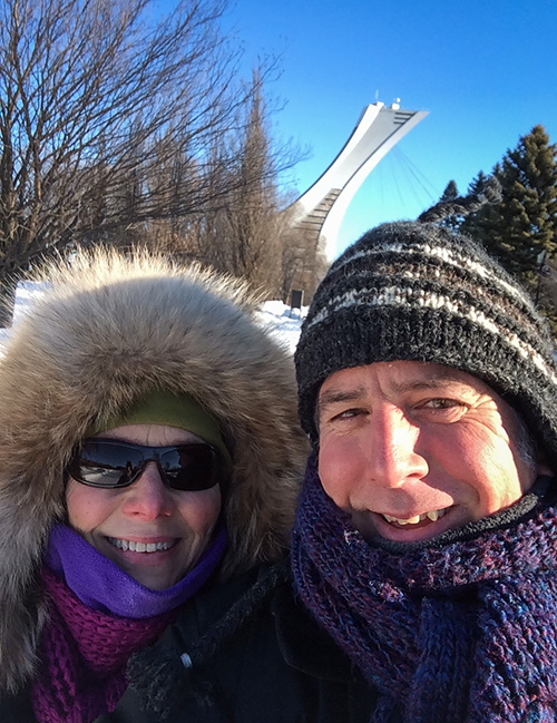 Me and Mags on New Year's Day in Montréal's Parc Maissonneuve