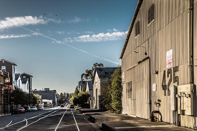 Looking down First Street in Petaluma