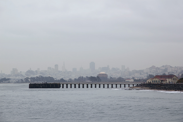 San Francisco during a January rain storm