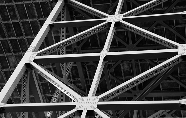Golden Gate Bridge abstraction