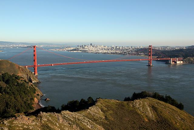 Marin Headlands Golden Gate full view