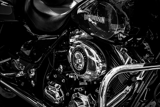 Harley-Davidson chrome close-up