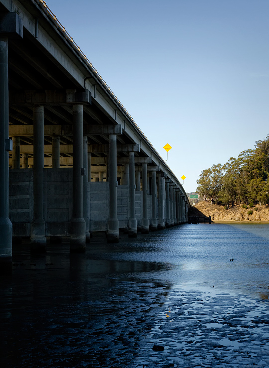 Low tide at the Mill Valley bridge