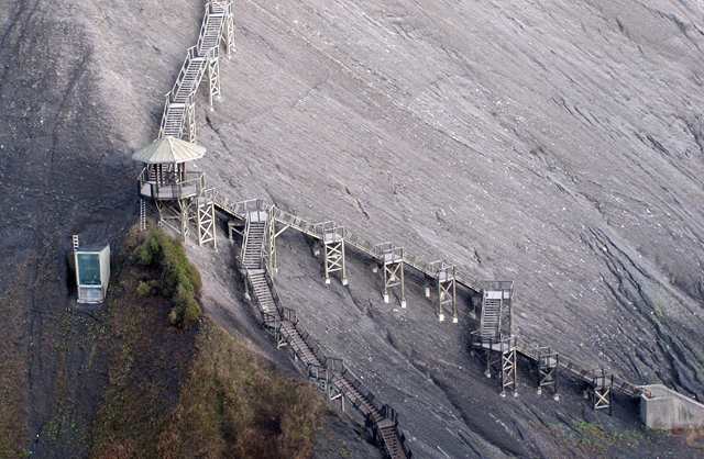 The steps to the base of Montmorency Falls