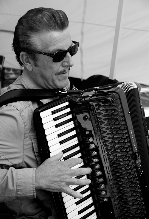 Old school accordion player