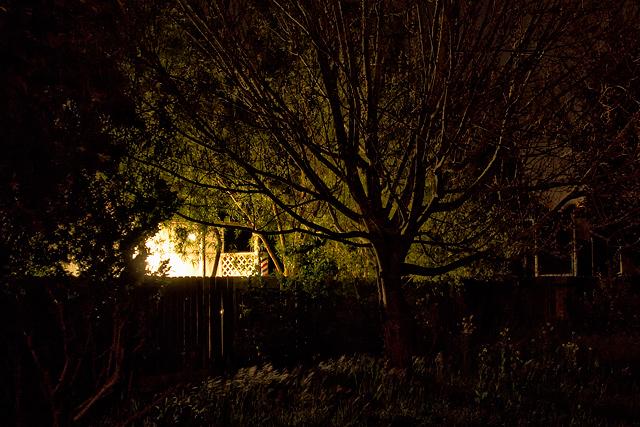 Neighbor's BBQ lighting