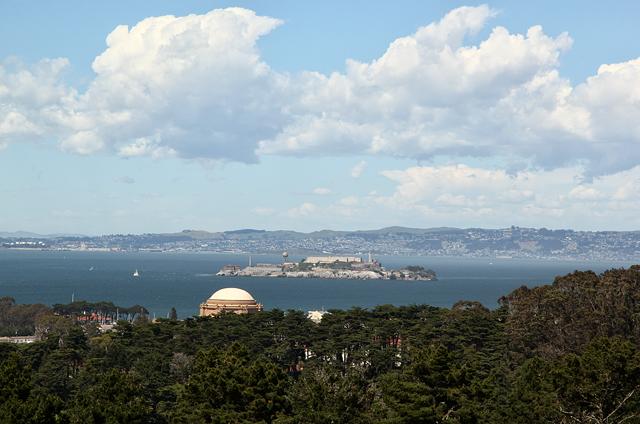Alcatraz from the upper Presidio