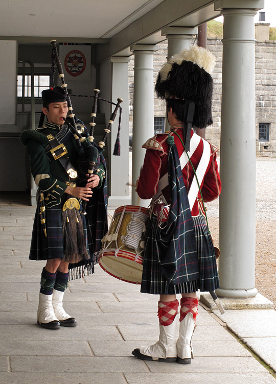 Pipes, drums and kilts in Halifax