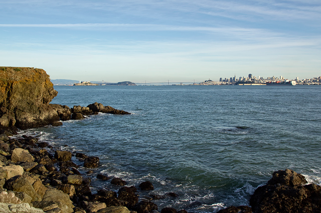 View of San Francisco from the north side of the bay