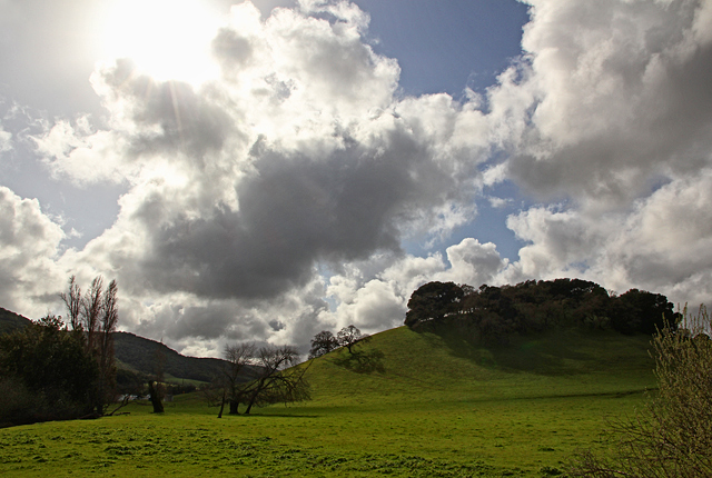 Sun and clouds in Spring