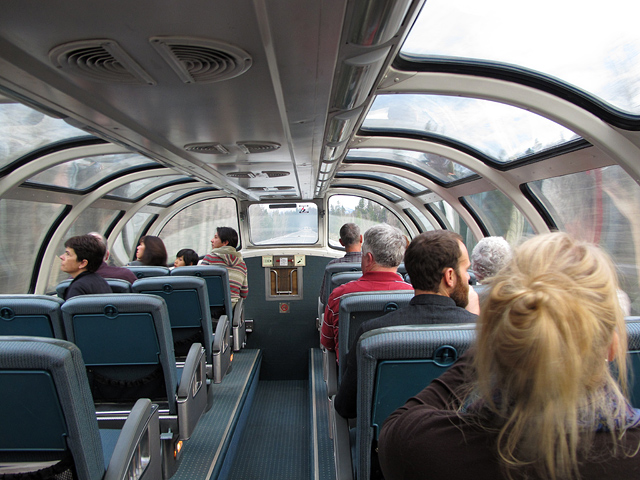 A view of the dome car